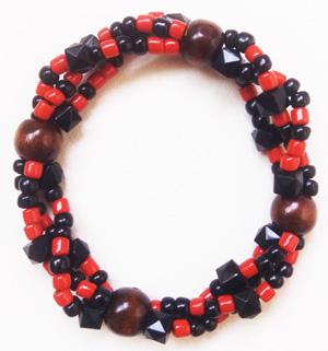 """Браслет """"Готика 3-ДК"""" (цвет: красный, черный, коричневый). ( S&L )"""