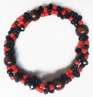 """Браслет """"Готика 3-Д"""" (цвет: черный, красный, коричневый). ( S&L )"""