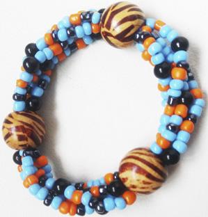 """Браслет """"Каир 4-П"""" (цвет: голубой, оранжевый, черный). ( S&L )"""