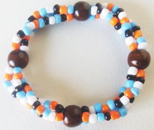 """Браслет """"Курортный З-Д"""" (цвет: голубой, оранжевый,белый, черный, коричневый). ( S&L )"""