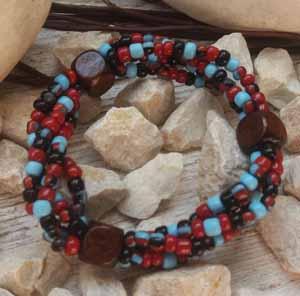 """Браслет """"Восход ДК-4"""" (цвет: бордовый, голубой, черный, коричневый). ( S&L )"""
