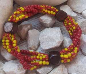 """Браслет """"Осенний вальс ДК-4"""" (цвет: бордовый, желтый, коричневый). ( S&L )"""