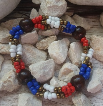 """Браслет """"Wonder Woman ДШ-3"""" (цвет: синий, белый, красный, медный, коричневый). ( S&L )"""