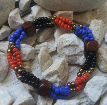 """Браслет """"Геката ДК-3"""" (цвет: черный, красный, синий, медный, коричневый). ( S&L )"""