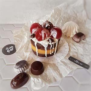 """Мыло ручной работы """"Пироженое шоколадный бисквит"""" 230.0 г. . ( myloru )"""